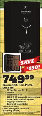 Get Browning 23-Gun Primal Gun Safe with $749 99 in Little