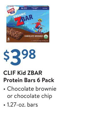 Clif Kid Zbar Protein Bars 6 Pack Simpsonville Kentucky