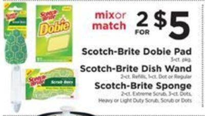 Get Scotch-Brite Doble Pad or Scotch-Brite Dish Wand or