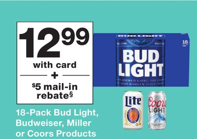 18pack Bud Light Budweiser Miller Or Coors Products San Jose