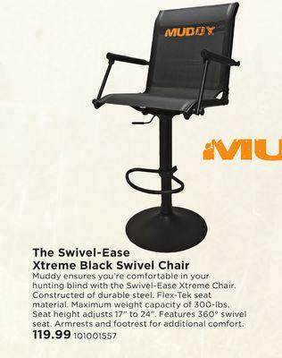 Enjoyable Buy Muddy The Swivel Ease Xtreme Black Swivel Chair In West Machost Co Dining Chair Design Ideas Machostcouk