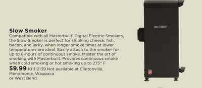 Trouvez des rabais sur smoker à Chokio, MN   Flipp