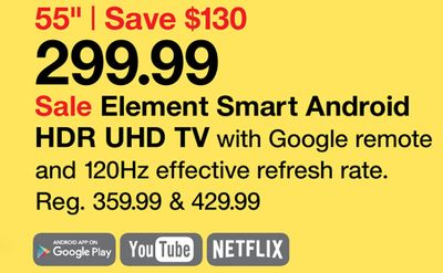 Element 55 Smart Android Hdr Uhd Tv Houston Texas