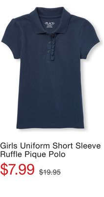 Lee Little Boys Short Sleeve Pique Polo Polos