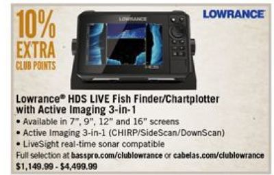 Get Lowrance HDS Live Fish Finder/Chartplotter with Active