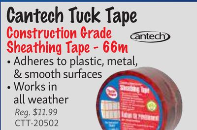 Get Cantech Tuck Tape Construction Grade Sheathing Tape