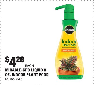 Get Miracle-Gro Liquid 8 oz  Indoor Plant Food with $4 28 in