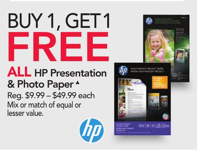 Get ALL HP Presentation & Photo Paper△ with $ in Houston   Flipp