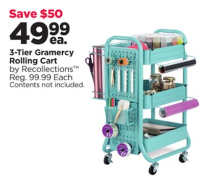d53f596f3b11 Get 3-Tier Gramercy Rolling Cart with $49.99 in Houston | Flipp