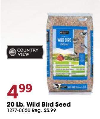 Get Country View 20 Lb  Wild Bird Seed with $4 99 in Desoto