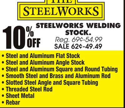 Buy STEELWORKS WELDING STOCK in Chicago   Flipp