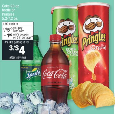 Coke 20 Oz Bottle Or Pringles 5272 Oz Miami Florida