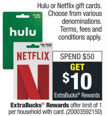Hulu Or Netflix Gift Cards Orlando Florida