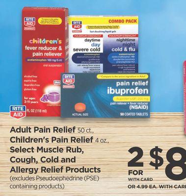 Buy Rite Aid Adult Pain Relief, Children's Pain Relief