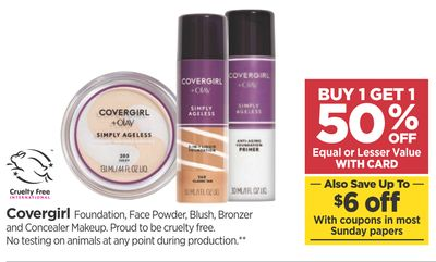 Covergirl Foundation Face Powder Blush Bronzer And Concealer