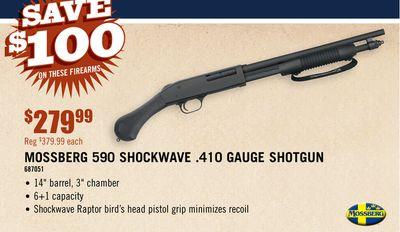 Buy MOSSBERG 590 SHOCKWAVE  410 GAUGE SHOTGUN in Denver | Flipp