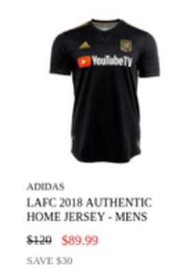 on sale 0ef01 68028 Get Youlubely ADIDAS LAFC 2018 AUTHENTIC HOME JERSEY- MENS ...