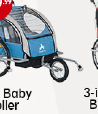 Get Aosom Bike Trailer Baby 2 in 1 Stroller Kids Seat
