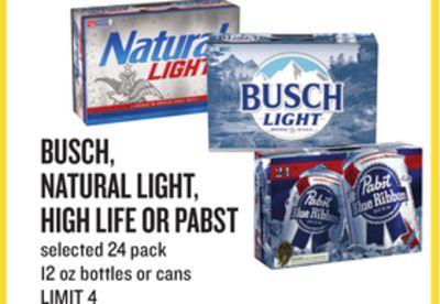 Busch Natural Light High Life Or Pabst Raleigh North Carolina