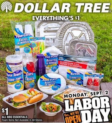 Dollar Tree, Dollar Tree Labor Day In Store Weekly Ad