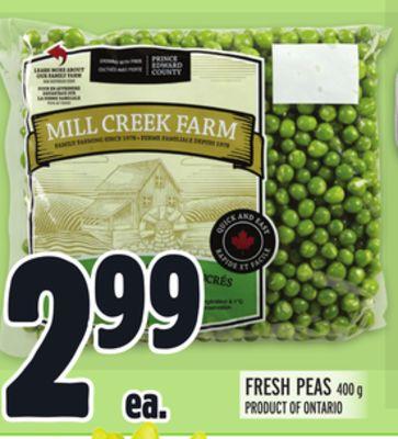 Mill Creek Farm Fresh Peas London Ontario