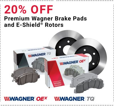 Buy Premium Wagner Brake Pads and E-Shield® Rotors in