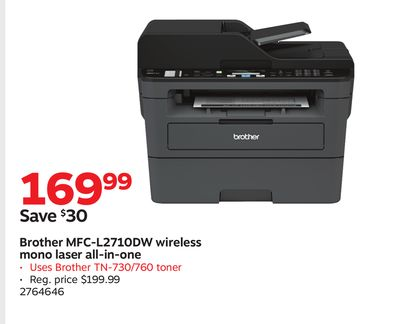 Buy Brother MFC-L2710DW wireless mono laser all-in-one in