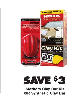 Buy SAVE $3 Mothers Clay Bar Kit OR Synthetic Clay Bar in
