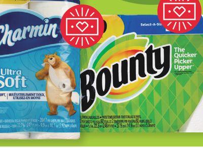 Buy Bounty Select-A-Size 6 single Plus, Charmin Ultra 8 Mega