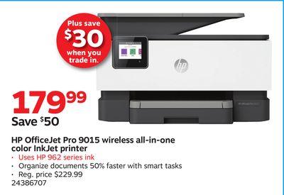 HP OfficeJet Pro 9015 wireless all-in-one color InkJet
