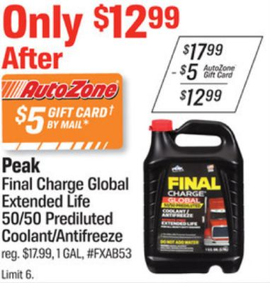 Get Final Charge Global Extended Life 50/50 Prediluted