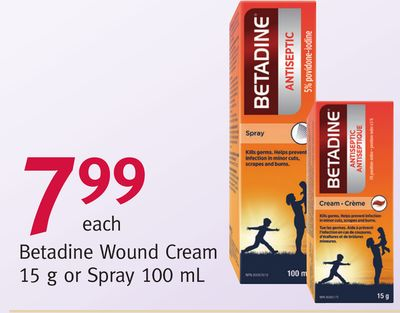 Buy Betadine Wound Cream 15 g or Spray 100 mL in Vancouver