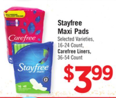 Buy Stayfree Maxi Pads in Los Angeles   Flipp