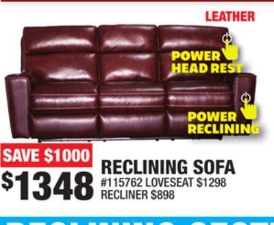 Strange Trouvez Des Rabais Sur Reclining Sofa A Burlington On Flipp Dailytribune Chair Design For Home Dailytribuneorg