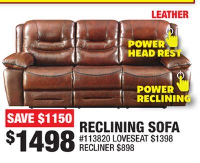 Surprising Trouvez Des Rabais Sur Reclining Sofa A Burlington On Flipp Dailytribune Chair Design For Home Dailytribuneorg