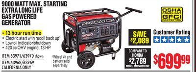 Buy 9000 WATT MAX  STARTING EXTRA LONG LIFE GAS POWERED