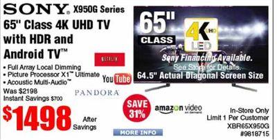 Buy SONY  X950G Series 65