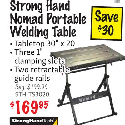 Buy Strong Hand Nomad Portable Welding Table Tabletop 30