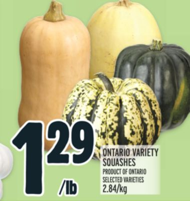 ONTARIO VARIETY SQUASHES