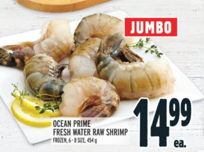 OCEAN PRIME FRESH WATER RAW SHRIMP