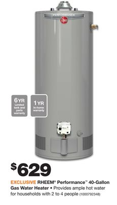 home depot coupons for hot water heaters