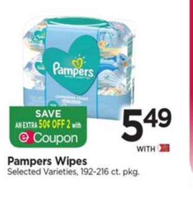 Pack of 6 Pampers Complete Clean Unscented Wipes 72 ea