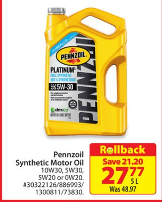 Whats The Difference Between 5w20 And 5w30 >> Find The Best Deals For Synthetic Motor Oil In Thunder Bay