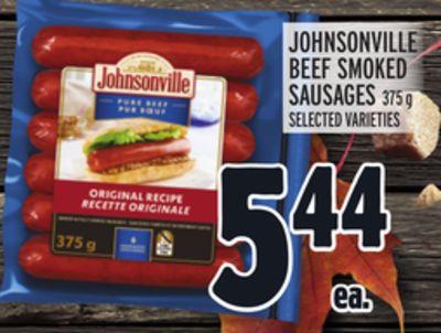 JOHNSONVILLE BEEF SMOKED SAUSAGE