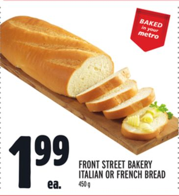 FRONT STREET BAKERY ITALIAN OR FRENCH BREAD