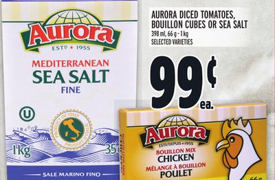 AURORA DICED TOMATOES, BOUILLON CUBES OR SEA SALT