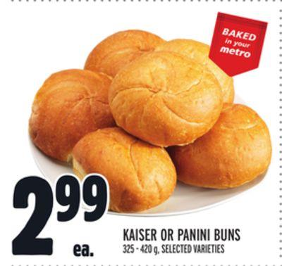 KAISER OR PANINI BUNS