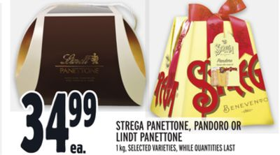 STREGA PANETTONE, PANDORO OR LINDT PANETTONE