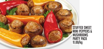 STUFFED SWEET MINI PEPPERS & MUSHROOMS PARTY PACK