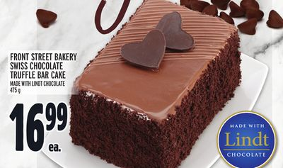 LINDT CRAVINGS FRONT STREET BAKERY SWISS CHOCOLATE TRUFFLE BAR CAKE